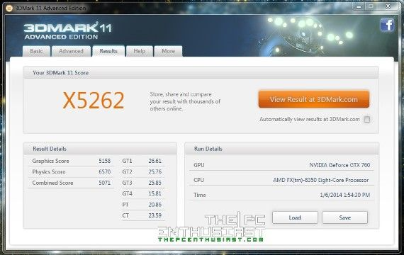 3dmark 11 v103 benchmark