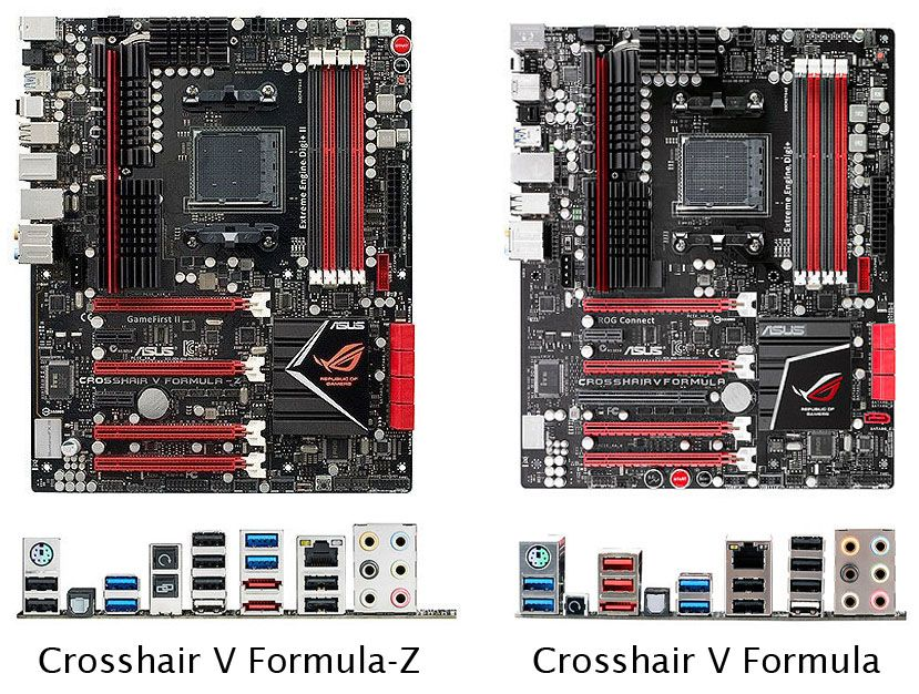 asus crosshair v formula-z vs crosshair v formula