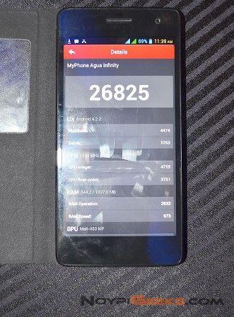 myphone infinity antutu benchmark score
