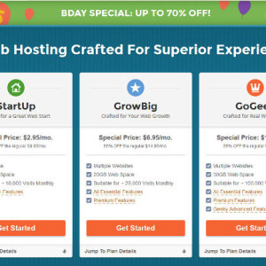 siteground web hosting bday promo discount 2014
