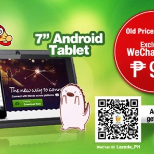 wechat and lazada android tablet promo
