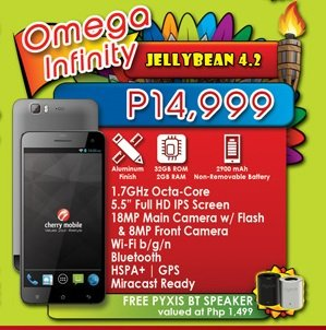 cherry mobile omega infinity specs price availability