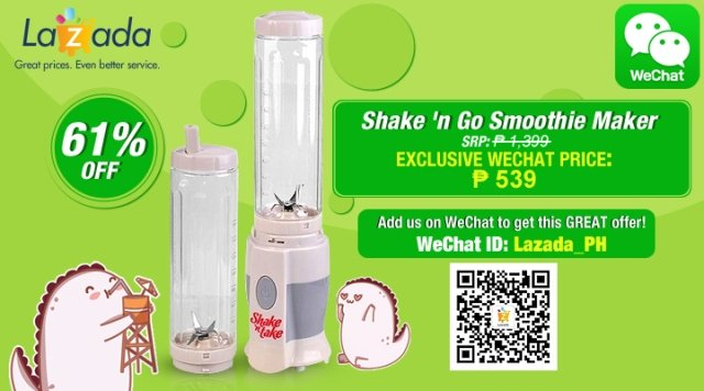 shake n Go discount from lazada ph via wechat