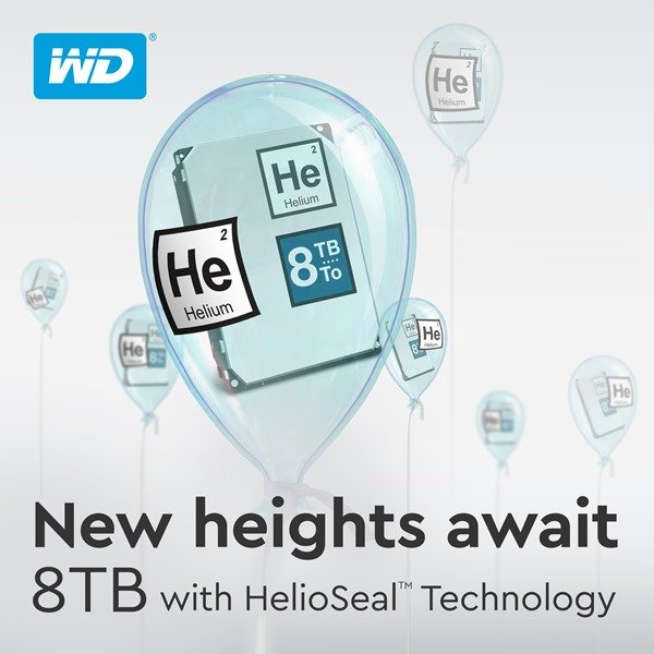 WD He 8TB Hard Drives with HelioSeal Technology