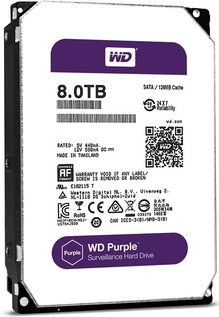 WD Purple 8TB HDD